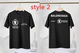 Wholesale food t shirts for sale – custom French luxury men New Men s and Women s Wear Letters WFP World Charity Food Agency Round Neck Loose Casual Long Short Sleeve T Shirt