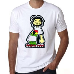 $enCountryForm.capitalKeyWord Australia - Rasta t shirt Reggae man short sleeve tees Rock steady music tops Fadeless print clothing Pure color colorfast modal tshirt