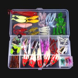 lure sets 2020 - Bionic Fake Fishing Lure Sequins Luminous Soft Bait Hard Lures Outdoor Fishing Gear Sets Fishing Equipment Free Shipping