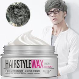 $enCountryForm.capitalKeyWord Australia - HOT SALE 100g Women Men Silver Grey Dynamic Modelling Wax Hair Styling Mud Water Gel