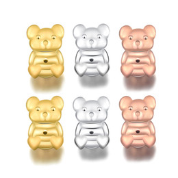 $enCountryForm.capitalKeyWord Australia - Magic Bax Bear Earrings Back Support Plugging Blocked Earrings Lifters Lifts Gold Silver Rose Gold Color Stud Earrings