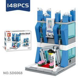 Age Blocks Australia - Mini World Little Shop Series City Building Assembled Mini blocks Puzzle Toys for Kids Age 6 Up
