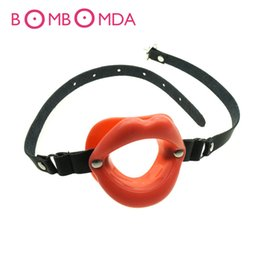 Tools For Sex Australia - Rubber Opening Mouth Gag Sexy Lip Oral Restraints Fetish Slave Tools Adult Sex Toy For Couples Leather Gag Erotic Games toys D19011105