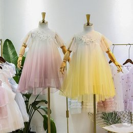 Tutus For Infants Australia - Kids Girl Lace Dress Baby Girls Floral Embroidery Tutu Dresses 2019 New Infant Princess Tulle Dress For Party Children Clothing S265