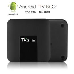 Media Player Australia - TX3 Mini Android 7.1.2 Tv Box Smart TV H2.65 IPTV 4K Set Top Box Media Player Amlogic S905W 2G RAM 16G ROM 2.4G WiFi
