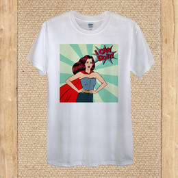$enCountryForm.capitalKeyWord Australia - I Can Do It Girl Power Pop Art Tshirt Design 100% Cotton unisex women Loose Cotton T-Shirts For Men Cool Tops T Shirts
