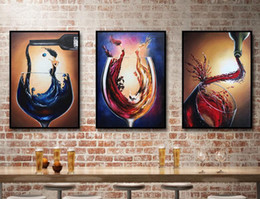 oil painting wine art Australia - New Decorative Art 100% Handmade Oil Painting Life Wine Cup On Canvas Modern Abstract Wall Picture Paintings Living Room Decoracion b-04