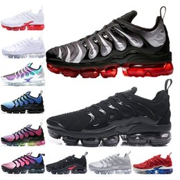 Discount shark mesh - New Design Mens Women Running shoes Red Shark Tooth BE TRUE White red Black white Cool Grey TN Plus Grape USA Chaussures