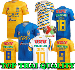 Discount clubbing top shorts - TOP 19 20 Mexico club Tigres UANL soccer jerseys Yellow home 7 Stars 2019 2020 GIGNAC Vargas H. Ayala away third blue fo