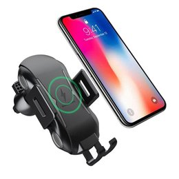 Wholesale Fast Wireless Charger Auto Car Phone Holder Wireless Charger for iphone X XS MAX XR plus for Samsung Note9 s10 s9 s8