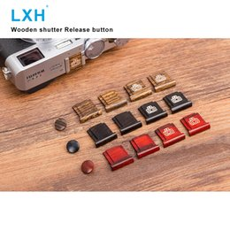 Shutter Release Camera Australia - LXH Wooden Surface Camera Soft Shutter Release Button with Hot Shoe Cover For Fujifilm Fuji XT20 X100F X-T2 X100T X-PRO2 X-T10