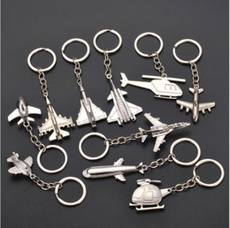 $enCountryForm.capitalKeyWord UK - New 3d High Grade Helicopter airliner Combat aircraft airplane keychain Women Bag Pendent Key rings Jewelry Men Car Keyring jewelry
