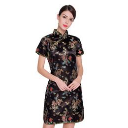 $enCountryForm.capitalKeyWord UK - Vintage Dragon&Phoenix Qipao Elegant Women Oversize Cheongsam 3XL 4XL 5XL 6XL Mandarin Collar Sexy Mini Chinese Dress Vestidos