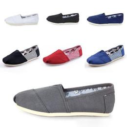 $enCountryForm.capitalKeyWord Australia - Low price drop shipping Mix color Women's Mens stripes classic flats casual canvas shoes plain Leopard Glitter canvas Espadrilles Sneak