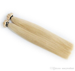 "nano ring hair tips UK - Straight Style Indian Nano-tip Ring Remy Human Hair Extensions 16""-24"" 200g 200s 1g s, Blonde Color 60#"