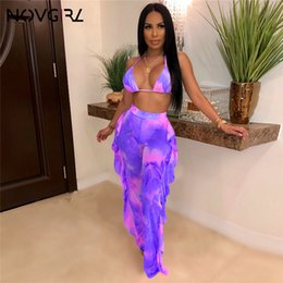 tenue de bonne sexy achat en gros de-news_sitemap_homeSexy Morceau Set Femmes Summer Beach Club Outfits Sheer Maides Body Body Top Pantalon à volants Ensemble de maillots de bain Party Correspondant pièces