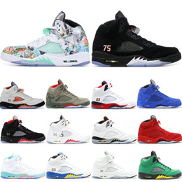 f227f2be22c230 Classic Camo 5 5s Mens Basketball Shoes Wings Red Suede Black Metallic  Saint Germain AAA Quality 2019 V Athletics Sneaker