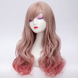 $enCountryForm.capitalKeyWord Australia - 60CM Women Lolita Long Wavy Mixed Red Hair Cosplay Heat Resistant Wig+Cap >>>>>Free shipping New High Quality Fashion Picture wig