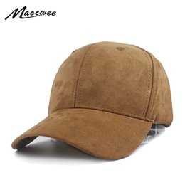 $enCountryForm.capitalKeyWord Australia - Unisex Soft Suede Baseball Cap Casual Solid color Sports Hat Bone Snapback Adjustable Breathable Dad Hats for Women and Men