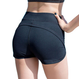 Wear Compression Shorts Australia - Push Up Gym Sport Workout Shorts For Women Compression Women's Yoga Short Pants For Active Wear Pole Fitness Sexy Solid #75047