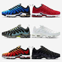 tn black shoes NZ - New Fashion Cushions Mens Running Shoes Maxes Plus Tn Ultra Hyper Blue Tiger Bright Cactus Black White SE Mercurial Plus tn shoes