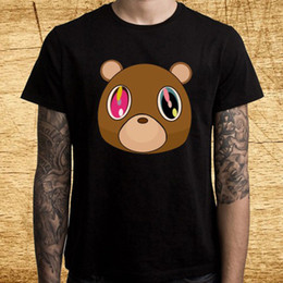 $enCountryForm.capitalKeyWord Australia - Kanye West Tour Graduation Bear Logo Men's Black T-Shirt Size S M L XL 2XL 3XL 2018 New Tee Print Hip Hop Short T Shirt