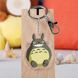 Spirit Pendants Australia - Anime Hayao Miyazaki keychain japanese cartoon Totoro Spirited Away No Face Man Acrylic car key holder chain pendants keyrings