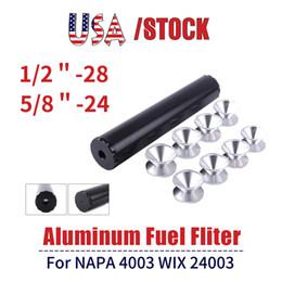 RASTP -Aluminium 1 / 2-28, 5 / 8-24 Kraftstoffilter Kraftstoffverschluss Solvent Filter für NAPA 4003 WIX 24003 RS-OFI019 im Angebot