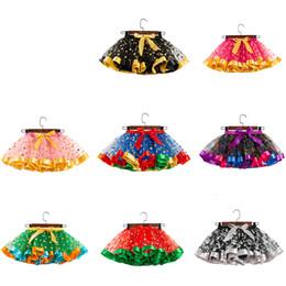 Wholesale 14styles Halloween Baby Girl Tutu dress skirt sequin Kids Colorful Halloween Christmas Party Dress Child Girl Mesh Cake Skirt FFA2797