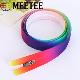 $enCountryForm.capitalKeyWord Australia - Meetee 3# Colorful Nylon Zipper Waterproof Invisible Open-end Zipper for DIY Bag Clothing Tailor Sewer Craft Tools