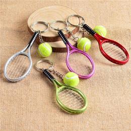 $enCountryForm.capitalKeyWord Australia - 2019 New Tennis Racket Keychain Wholesale Mini Tennis Keychain Creative Racket Pendant Sport Style Business Gift
