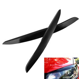 $enCountryForm.capitalKeyWord Australia - Fashion Car Headlights Eyelids Trim Stickers Cover Car Styling for VW Polo MK5 New Durable Car Eyelids Stickers