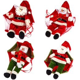 Wholesale Christmas Santa Claus Snowman Parachute Pendant Xmas Tree Hanging Ornaments