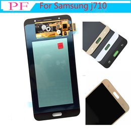 SamSung j7 replacement online shopping - 5PCS AMOLED For Samsung Galaxy J7 J710 J710F J710FN J710M J710Y LCD Display LCDs Touch Screen Digitizer Assembly Replacement