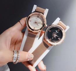 $enCountryForm.capitalKeyWord Australia - Starry Sky Stainless Steel Mesh Belt Watch Casual Quartz Analog Watch Round Hot Sale Girl Gift Wrist Watches For Women