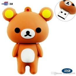 $enCountryForm.capitalKeyWord Australia - 32GB USB Flash Drive with Cute Rilakkuma Shape 32G Memory Stick U Disk - Brown