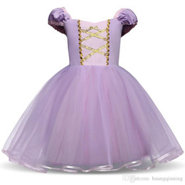 $enCountryForm.capitalKeyWord Australia - Fantasy Princess Girl Purple Gown Kids Summer Dresses For Girl Tutu Party Frock Children Cosplay Birthday Dress Up Baby Clothing