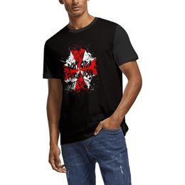 Custom Print T Shirt Cheap UK - Resident evil umbrella Summer Mens T Shirt white Shirts Custom T Shirts Cool T Shirts Champion Cheap Shirt Black