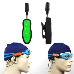 waterproof swimming sport mp3 player NZ - Swimming Diving Underwater MP3 Headset Sport Stereo Bass Swim MP3 with Clip 8GB FM Radio IPX8 Waterproof Music Player