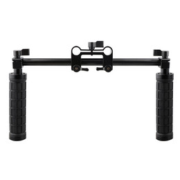 Dslr Camera System Australia - Freeshipping Camera Handle Grip 15mm Rod Clamp Support Rail System DSLR Shoulder Rig Studio Photo Accessories C1049