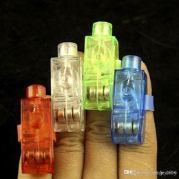 Laser Beam Rings Australia - LED Finger Light Glowing Dazzle Laser Emitting Finger Ring Beams Ring Torch Wedding Party Christmas Celebration