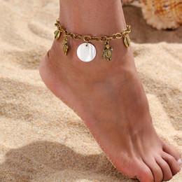Anklet Toe Chain Australia - tortoise octopus Shell Beach Anklet Barefoot Sandals Toe Bracelets Tassel Shell Anklet foot chain Jewelry