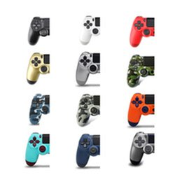 station wireless controllers UK - With Logo PS4 Controller for PS4 Vibration Joystick Gamepad Wireless Bluetooth Game Controller for Sony Play Station With Retail box