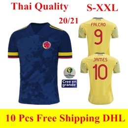 colombia jerseys Australia - 2020 2021 Copa America Colombia jersey 20 21 home away camisetas de fútbol FALCAO JAMES soccer jerseys VALDERRAMA CUADRADO football shirts