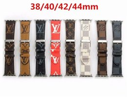 Wholesale AAA Luxury Strap MM MM Fashion Brand Leather Watchbands for Apple Watch Band mm mm iwatch bands Leather Strap Sports Bracelet