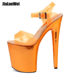 Orange Pole Australia - 2019 NEW WOMEN'S PLATFORM HIGH HEELED SANDALS POLE DANCING LAP DANCER LADIES SUMMER SHOES HEELS BUCKLES Size 36-43 FOR MEN DANCE