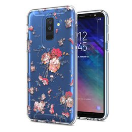 draw tpu case UK - Clear Phone case For Iphone XR XS XS MAX 8 8 plus TPU +Sticker +PC Coloured Drawing Oppbag 200pcs at least
