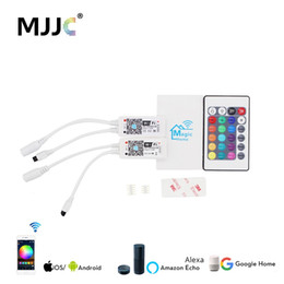 mini rf remote rgb Australia - Wireless WIFI LED Controller RGB DC5-24V Bluetooth RGBW IR   RF Remote Control Google Home Mini For LED Strip RGBWW Controller