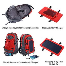 bags solar panels UK - Solar Backpack With Removable Solar Panel Multifunctional Solar Bag For Travel Camping Hiking
