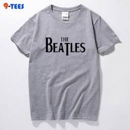 wholesale beatles shirts Australia - Pop Sell Fashion Brand Tshirt Men&s Cotton Creative Boom Design T-shirt The Beatles Letter Print Tee Shirts Hipster